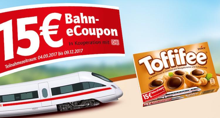 Deutsche Bahn Gutschein Gutscheincode eCoupon Toffifee