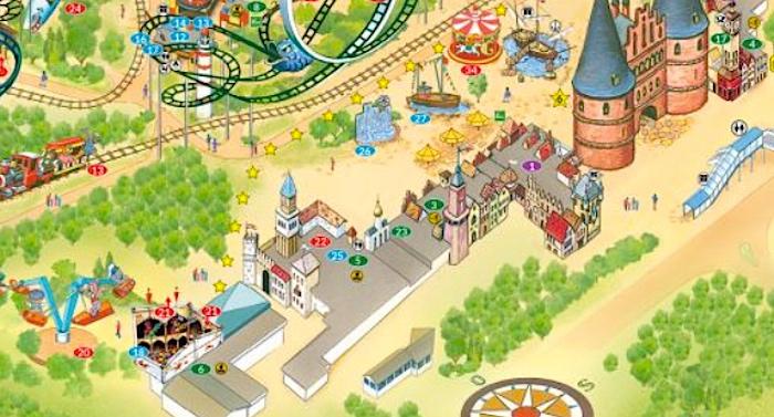 Hansa-Park Karte Parkplan Lageplan