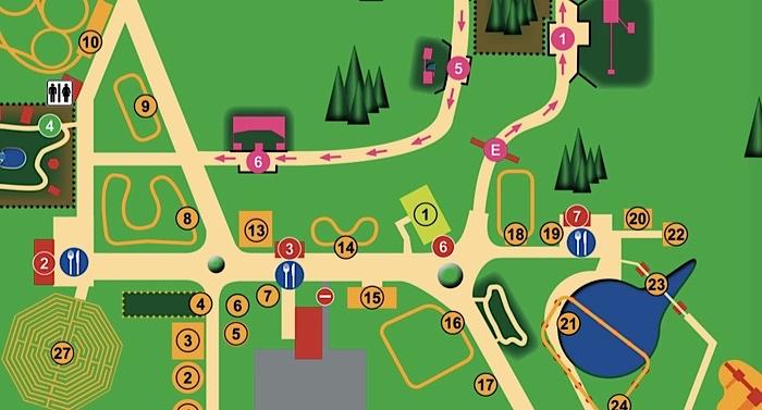 Magic Park Verden Karte Lageplan Parkplan