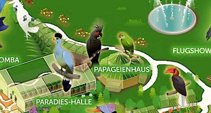 Weltvogelpark Walsrode Karte Parkplan Lageplan