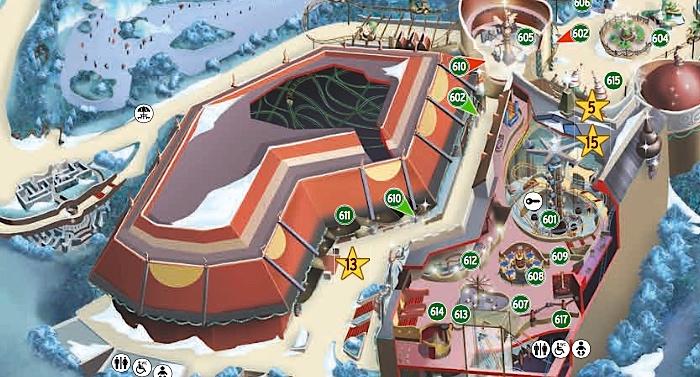 Freizeitpark Phantasialand Parkplan Lageplan