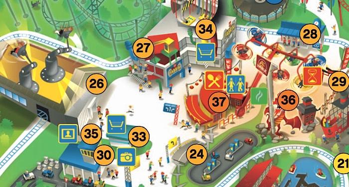 Legoland Parkplan Lageplan