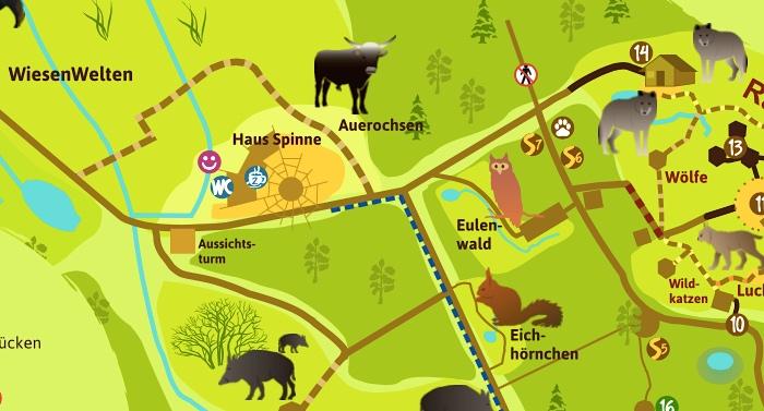 Wildpark MV NUP Güstrow Parkplan Lageplan