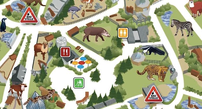 Zoo Dortmund Parkplan Lageplan