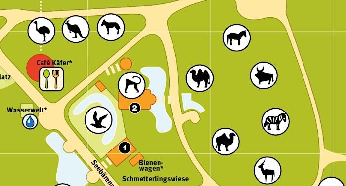 Zoo Rostock Parkplan Lageplan