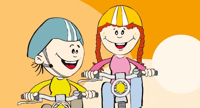 Geschenk für Kinder Sicher auf dem Fahrrad