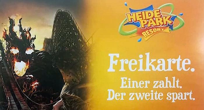 Heide Park 2 für 1 Gutschein