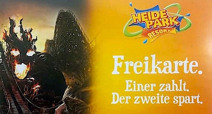 AOK Heide Park Gutschein 2 für 1 Coupon mit 50 Prozent Rabatt Saison 2021
