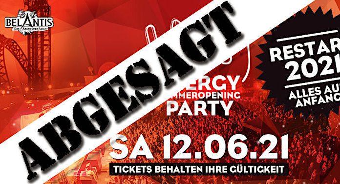 "Belantis: ""Energy SummerOpening Party 2021"" abgesagt"