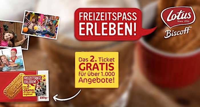 Biscoff Keks Freizeitspaß Freizeitpark 2 für 1 Gutschein Saison 2021