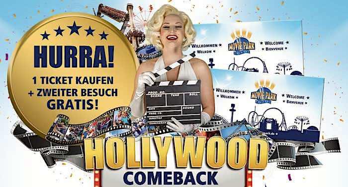 Movie Park 2 für 1 Gutschein Ticket 2021 mit 50 Prozent Rabatt kaufen