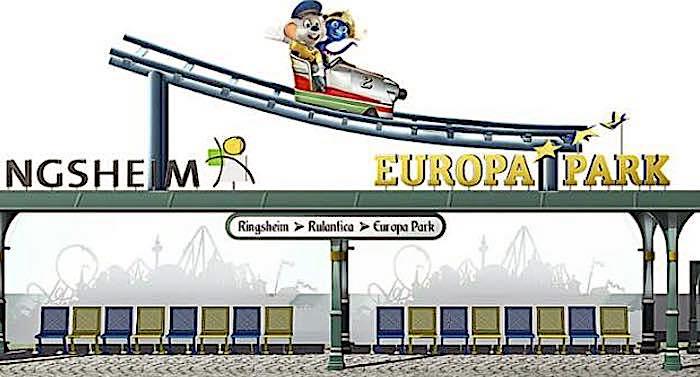 Europa-Park: Bushaltestelle am Bahnhof Ringsheim erhält neues Design