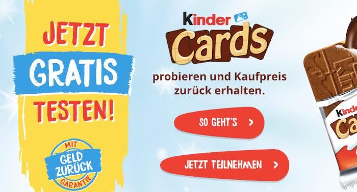 Kinder Cards Cashback-Aktion 2021