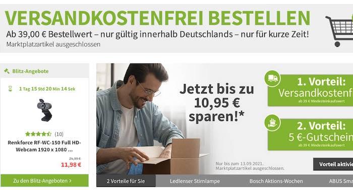 VOELKNER Gutschein mit 5 Euro Rabatt und kostenlosem Versand